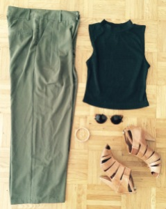 Pantalon ASOS, top Newlook, Chaussures André