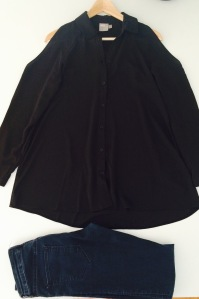 Jeans H&M, chemise ASOS