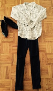 Jeans Topshop, chemise H&M, Ballerines Oxitaly