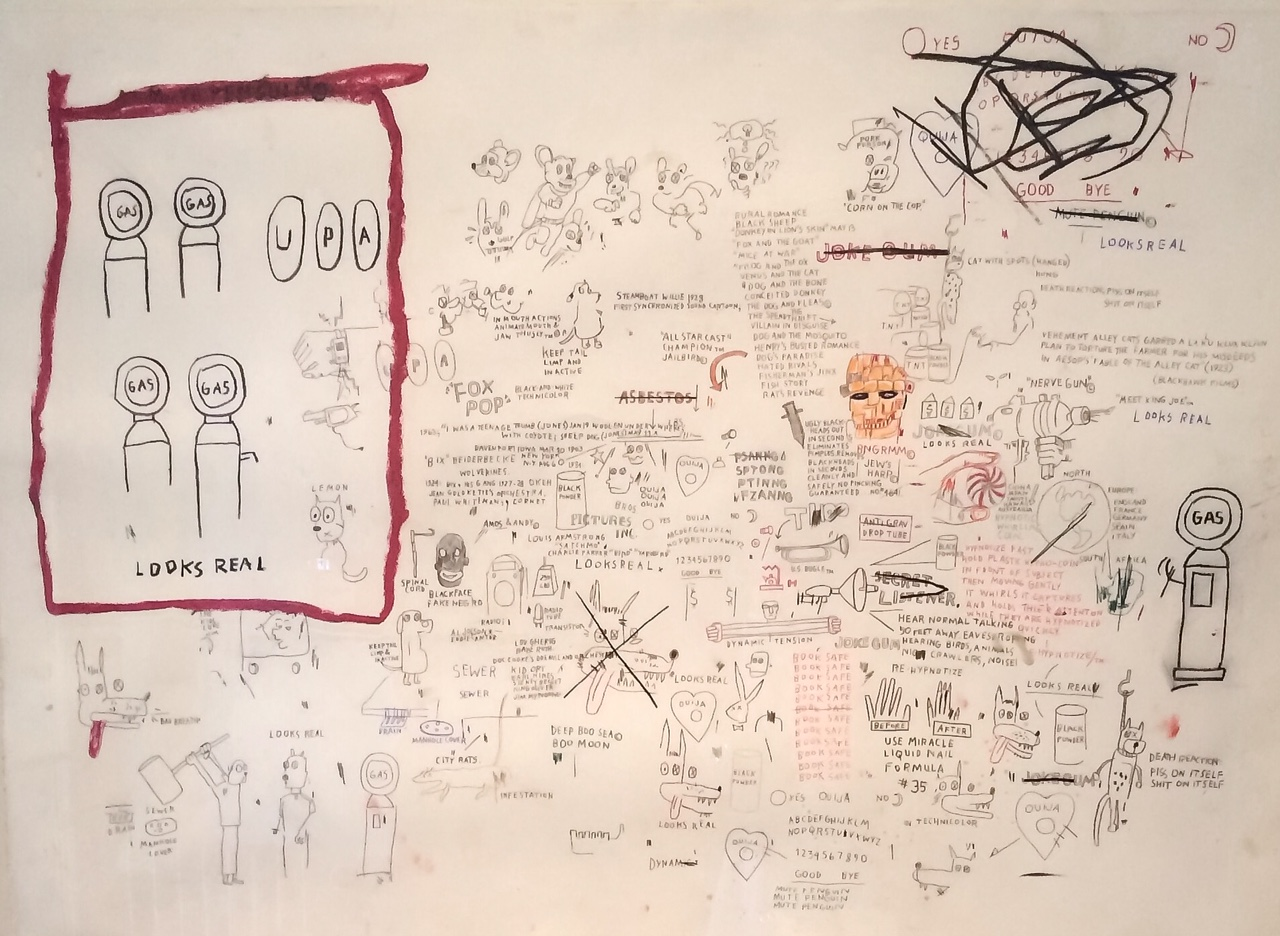 Basquiat dessin Hermitage Lausanne