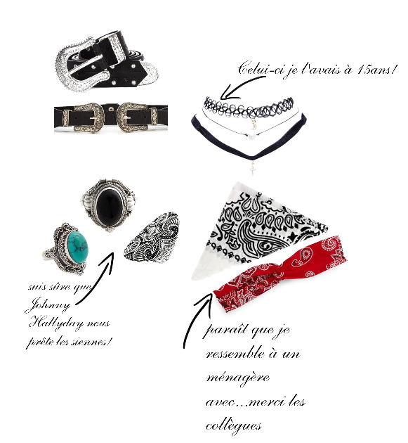 polyvore accessoires argent choker ceinture rock