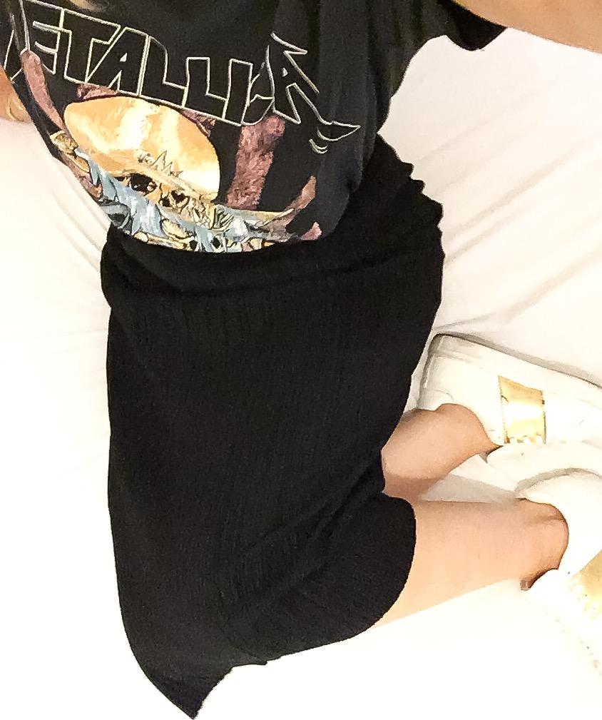 Metallica tee-shirt outfit