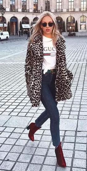 manteau leopard inspiration