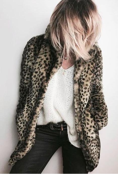 leopard manteau