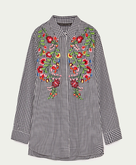 chemise-vichy-brodee-zara