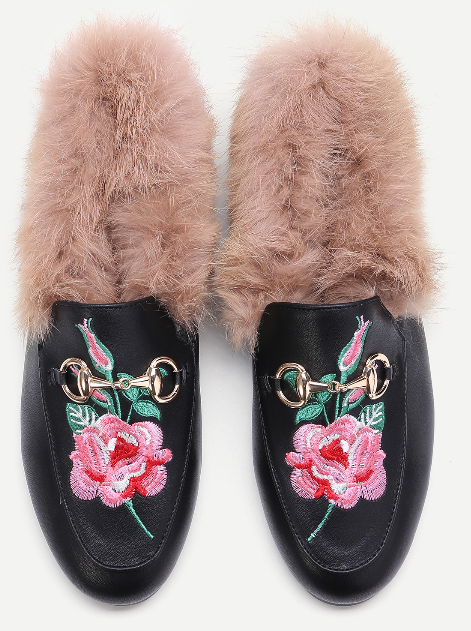 faux-fur-embroidered-loafers-shein