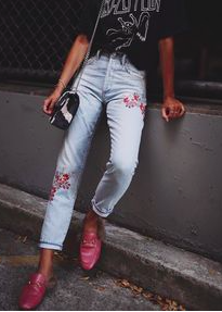 Pinterest embroidered jeans chicandswiss