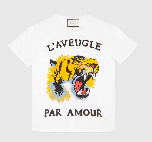 gucci tee-shirt l'aveugle par amour
