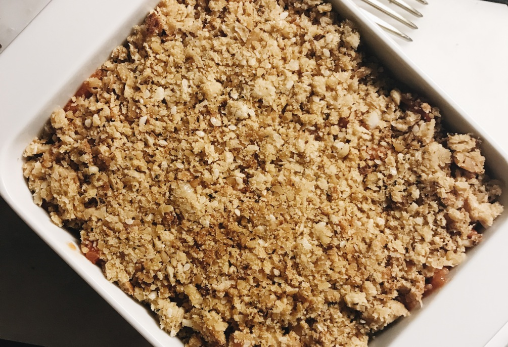 crumble pois chiche courgettes