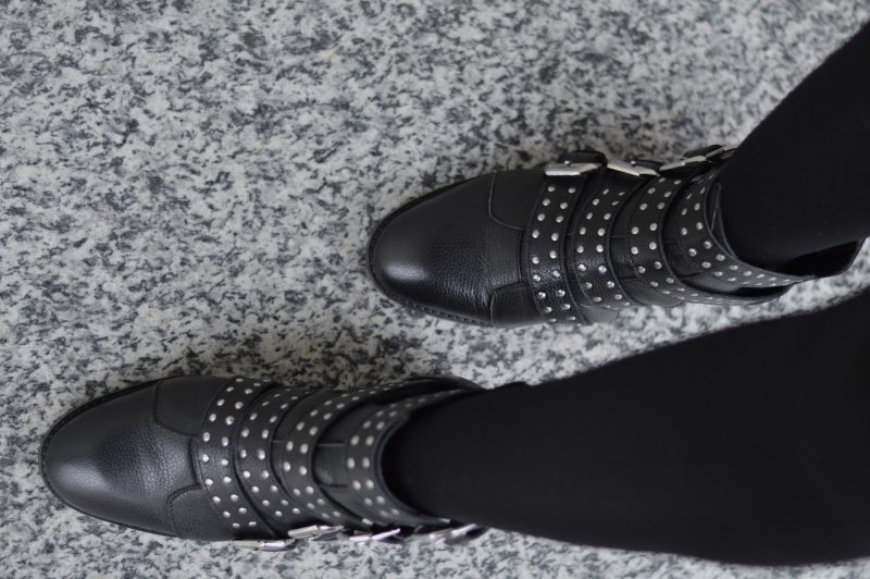 look jupe vichy pull&bear bottines cloutées miss selfridge 3