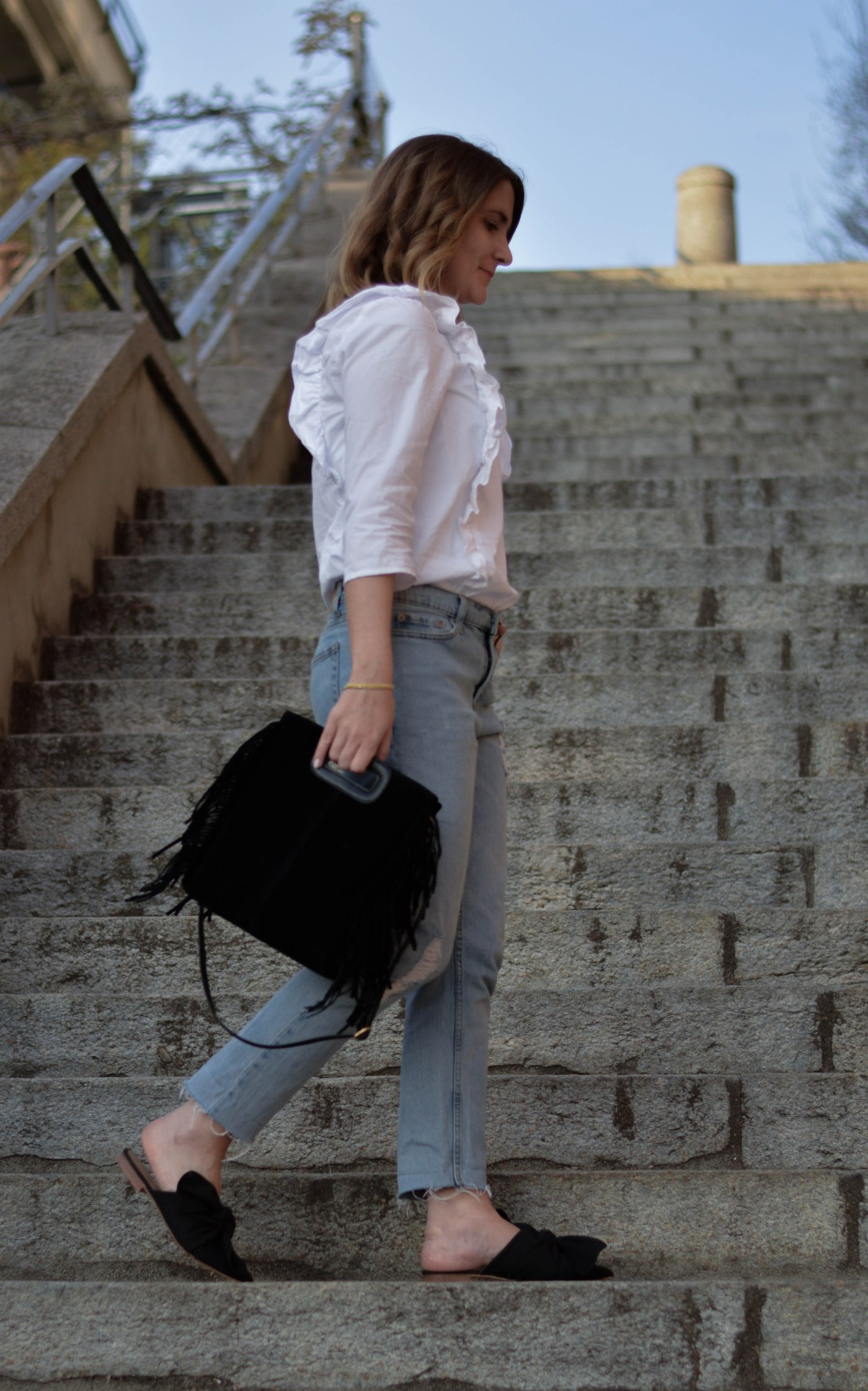 chicandswiss look mules topshop chemise volant 14