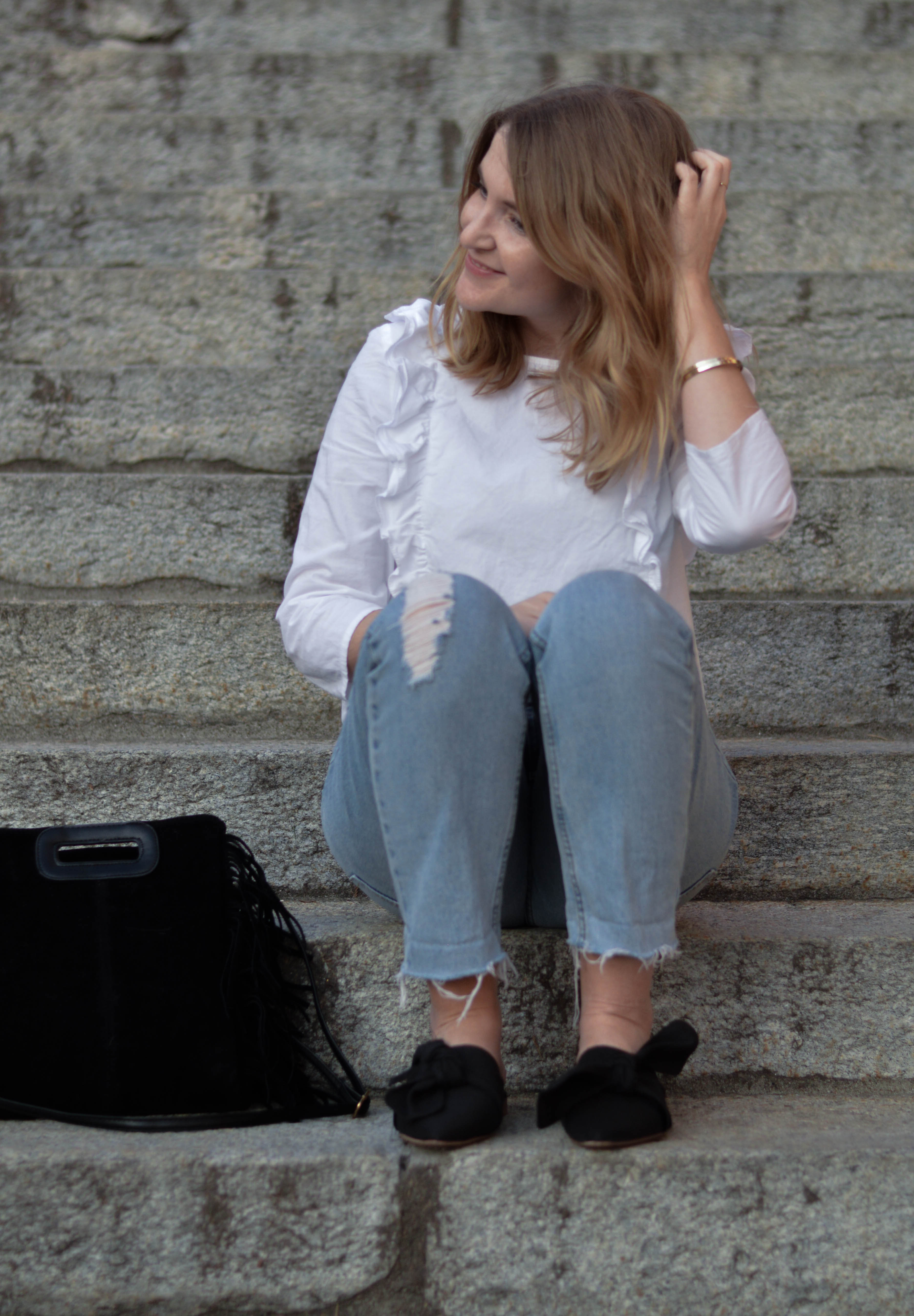 chicandswiss look mules topshop chemise volant 9