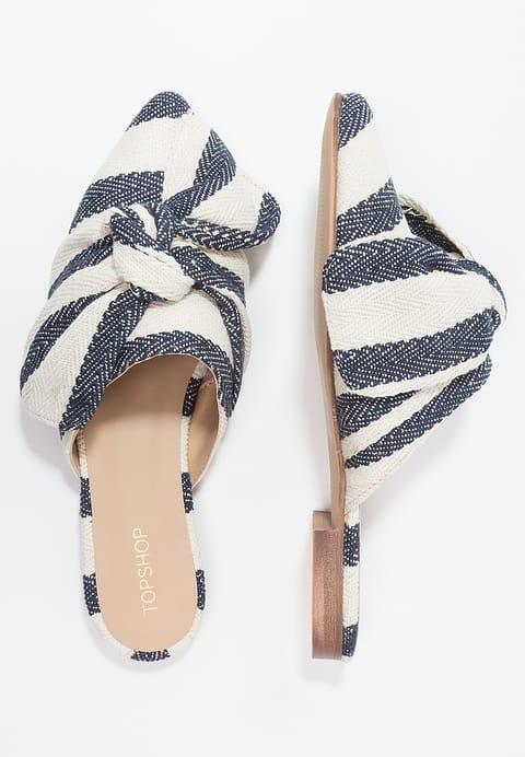 topshop mules bleu et blanc