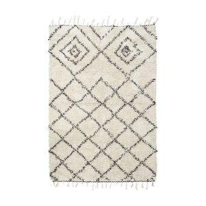 tapis berbère à losanges noir blanc