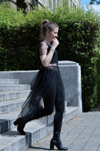 mesh dress robe tulle escarpins