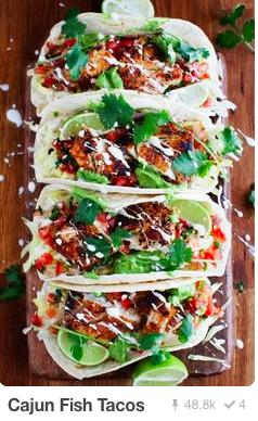 cajun fish tacos pinterest