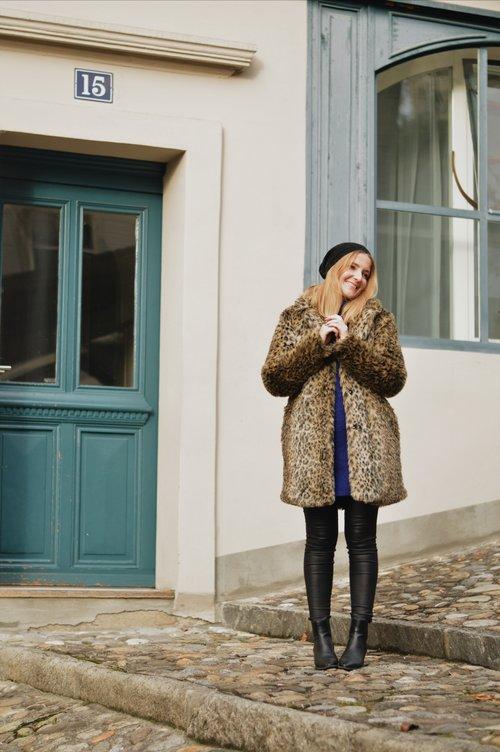 manteau léopard tenue du jour blog suisse swissfashionblogger